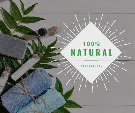 Plantilla de diseño de Natural Handmade Soap Shop Ad Facebook