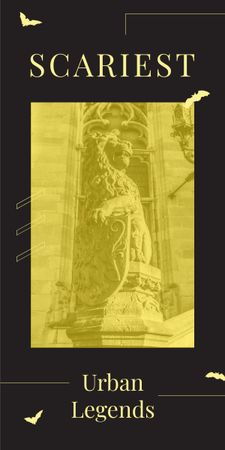 Plantilla de diseño de Lion sculpture on building facade Graphic
