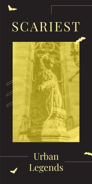Modèle de visuel Lion sculpture on building facade - Graphic