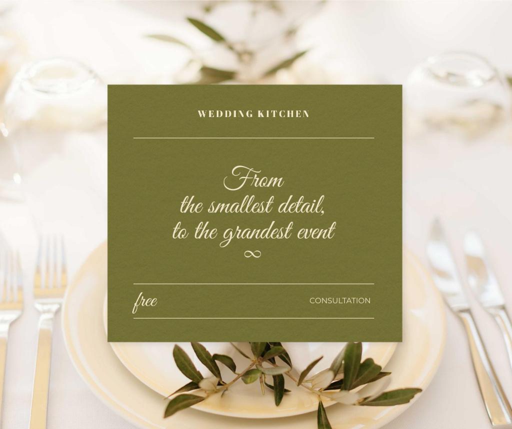 Modèle de visuel Wedding Kitchen Services Offer with Festive Serving - Facebook