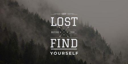 Plantilla de diseño de get lost before you find yourself Image