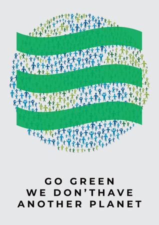 Plantilla de diseño de Citation about green planet Poster