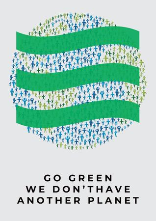 Citation about green planet Poster Modelo de Design