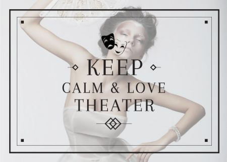 Ontwerpsjabloon van Card van Citation about love to theater