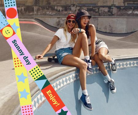 Plantilla de diseño de Summer Inspiration with Stylish Girls Facebook