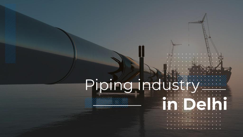 Industrial Pipe in Sea Youtube Thumbnail Modelo de Design