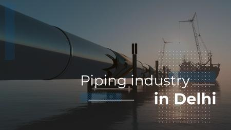 Industrial Pipe in Sea Youtube Thumbnail Modelo de Design