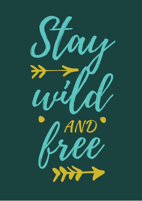 Modèle de visuel Freedom Quote on Blots Background - Poster