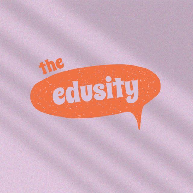 Education Offer with Speech Bubble Illustration Logo – шаблон для дизайну