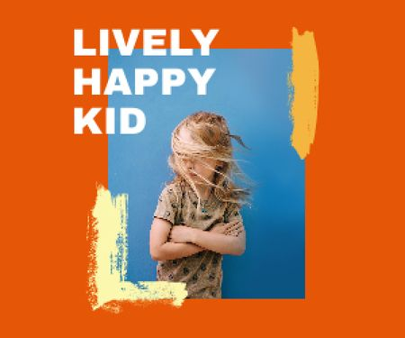Plantilla de diseño de Trendy Kid's Clothes Offer with Stylish Little Girl Medium Rectangle