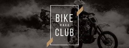 Modèle de visuel Bike Club Ad with Bikers Riding Motorcycle race - Facebook cover