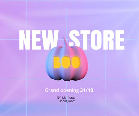 Modèle de visuel New Halloween Store Opening Announcement - Facebook