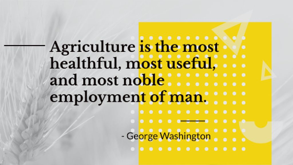 Agricultural Quote with Ears of Wheat in Field — Crea un design