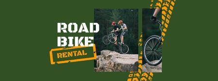Road Bikes Rental Offer Facebook coverデザインテンプレート