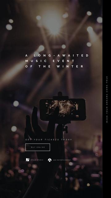 Shooting Concert on Phone Instagram Video Story – шаблон для дизайну