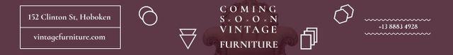 Plantilla de diseño de Antique Furniture Ad Luxury Armchair Leaderboard