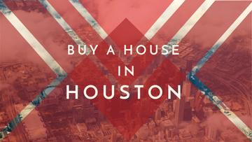 Houston Real Estate Ad with City View