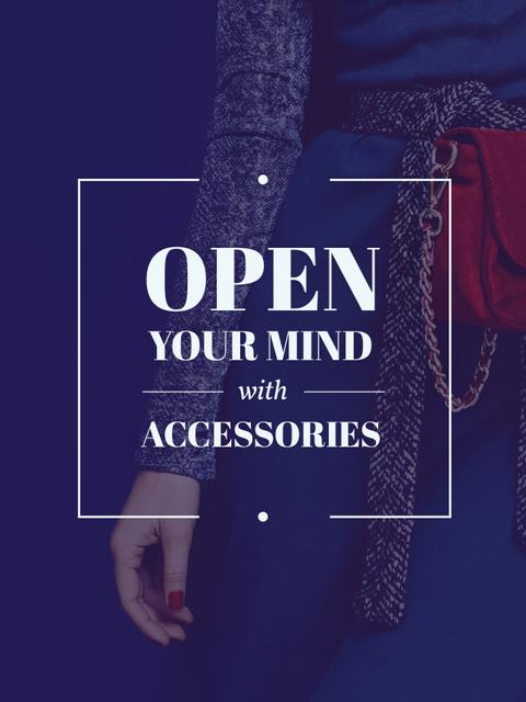 Accessories Quote Stylish Woman in Blue Poster US – шаблон для дизайну