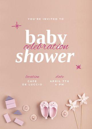 Designvorlage Baby Shower Celebration Announcement für Invitation