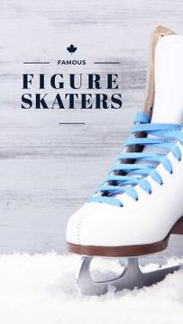 Famous Figure Skaters with Skates