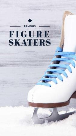 Famous Figure Skaters with Skates Instagram Story – шаблон для дизайну