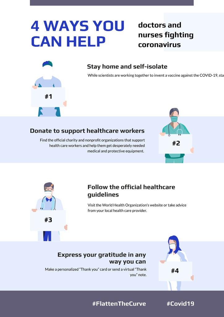 #FlattenTheCurve Doctors with Protective measures against covid-19 — Crea un design