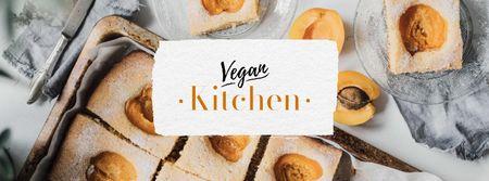 Vegan Kitchen Concept with Apricots Facebook cover – шаблон для дизайну