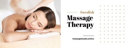 Massage Offer with Woman on Therapy session Facebook cover – шаблон для дизайну