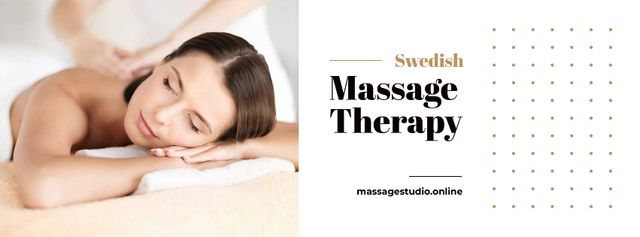 Template di design Massage Offer with Woman on Therapy session Facebook cover