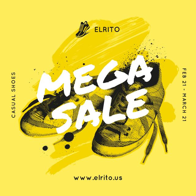 Template di design Shoes Sale Sneakers in Yellow Instagram