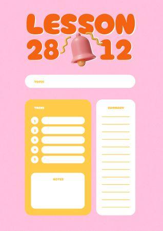 Ontwerpsjabloon van Schedule Planner van School Lesson Planning