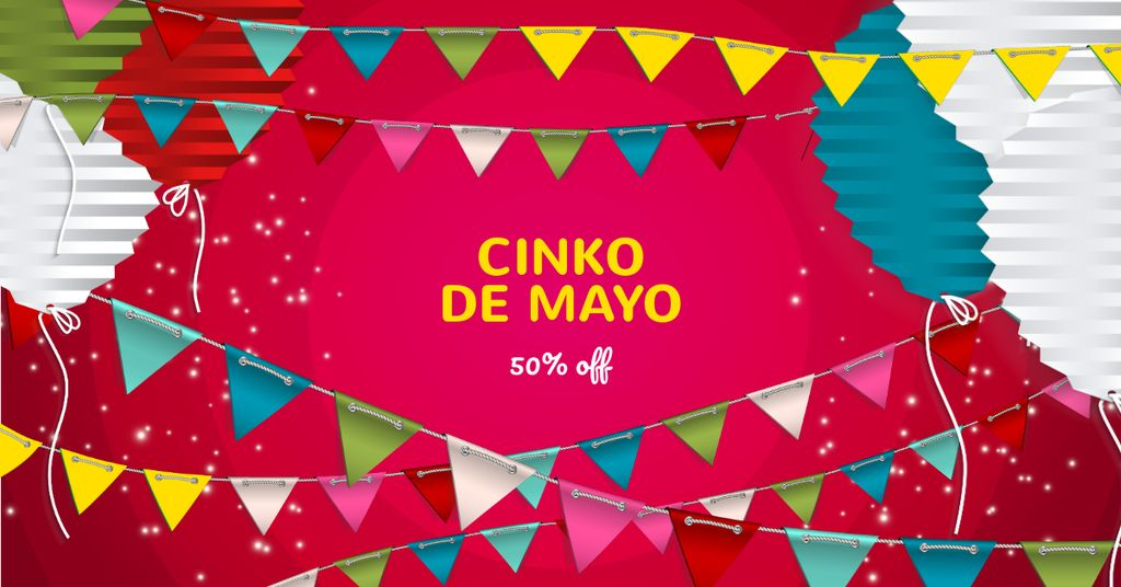 Cinco De Mayo Sale with Festive Decoration — Crear un diseño