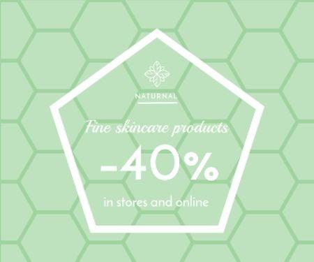 Skincare products sale advertisement Large Rectangle Modelo de Design
