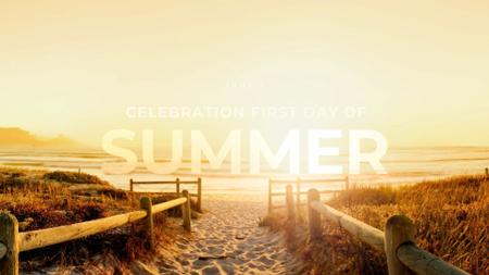 Ontwerpsjabloon van FB event cover van First Day of Summer Celebration Announcement