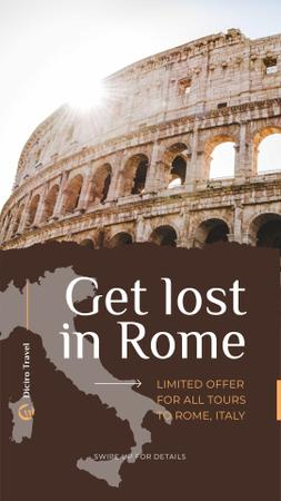 Ontwerpsjabloon van Instagram Story van Special Tour Offer to Rome