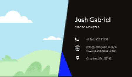 Motion Designer professional contacts Business card Design Template
