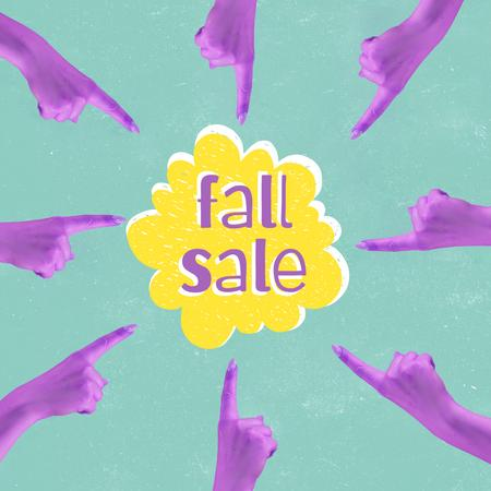 Funny Announcement of Autumn Sale Animated Post Design Template