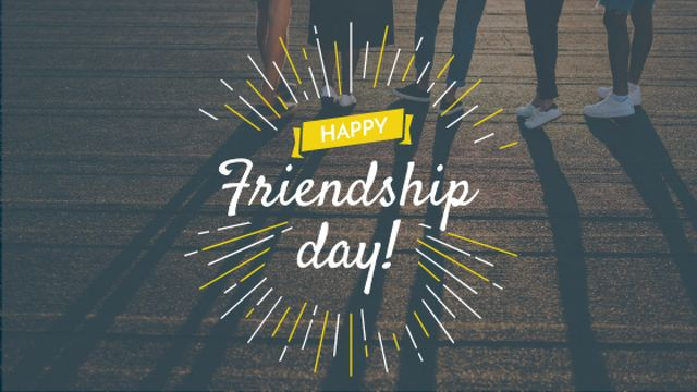 Friendship Day Greeting Young People Together Title – шаблон для дизайна