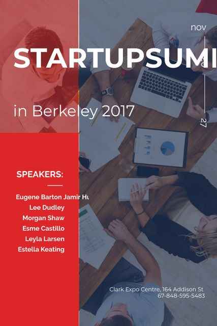 Modèle de visuel Successful Business Team at startup meeting - Tumblr