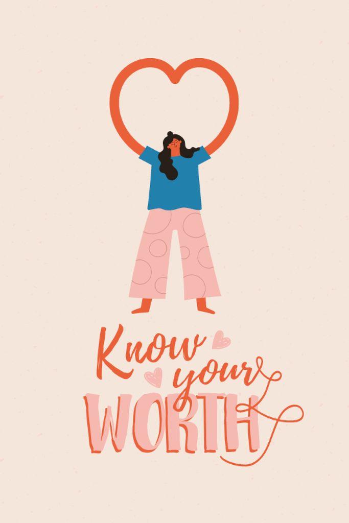 Szablon projektu Mental Health Inspiration with Woman showing Heart Tumblr