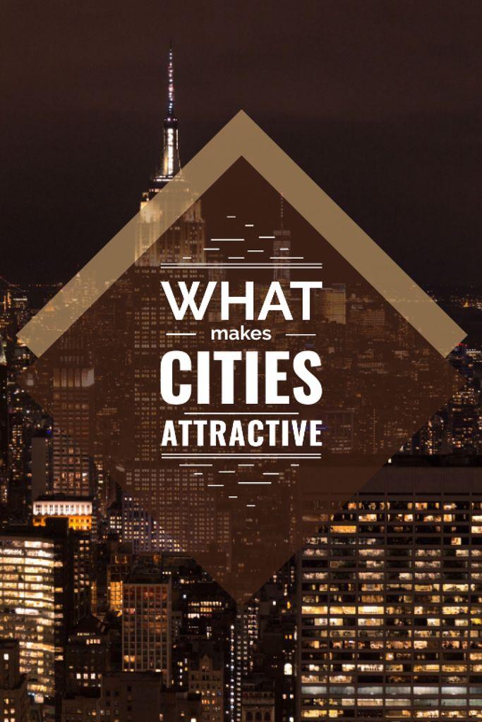 Ontwerpsjabloon van Tumblr van City Guide Night Skyscraper Lights