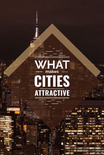 Template di design City Guide Night Skyscraper Lights Tumblr