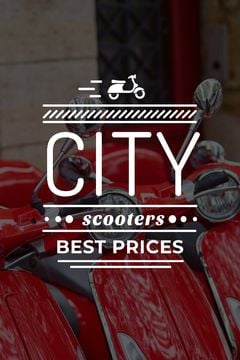 Store Sale Scooters in Red