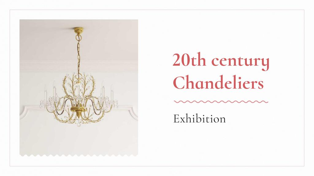 Template di design Elegant Crystal Chandelier in White FB event cover