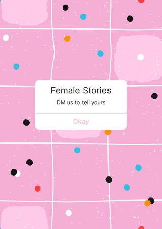 Girl Power Promotion on Fairy Pink Sky Poster Modelo de Design