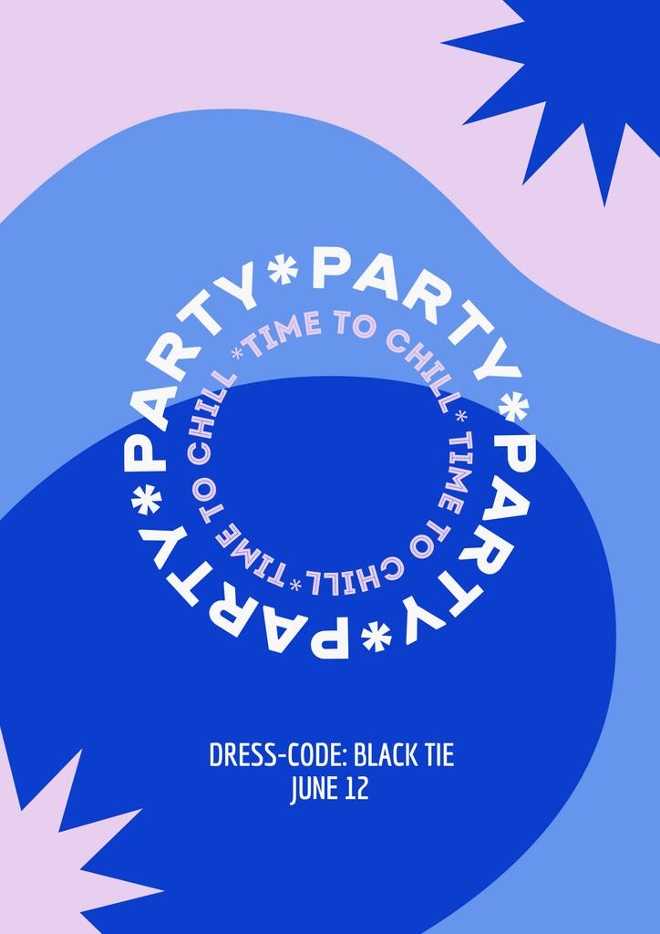 Party Announcement on Bright Pattern Poster – шаблон для дизайна