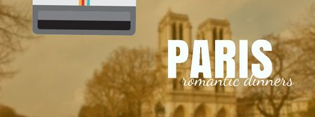 Modèle de visuel Tour Invitation with Paris Notre-Dame - Facebook Video cover
