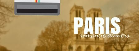 Tour Invitation with Paris Notre-Dame Facebook Video cover Design Template
