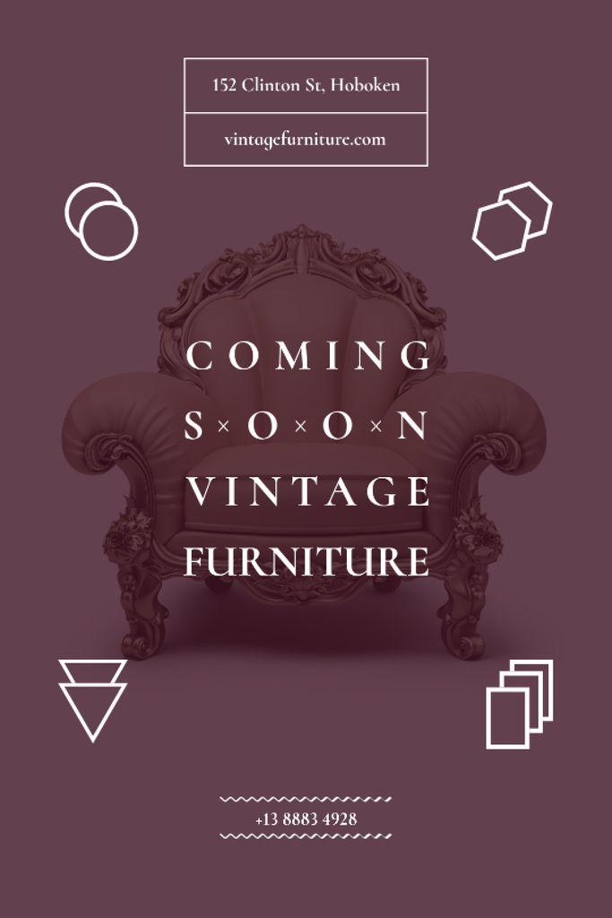 Antique Furniture Auction Luxury Armchair — Modelo de projeto