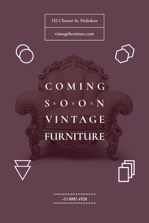 Antique Furniture Auction Luxury Armchair Tumblrデザインテンプレート